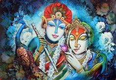 Radha Krishna (Reprint on Paper - Unframed)