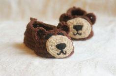 Inspiration - crochet bear slippers