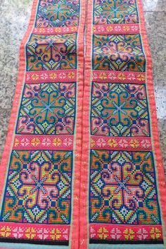 Vintage Hmong Fabric, handmade tapestry textiles, hill tribal fabric on Etsy, $19.99
