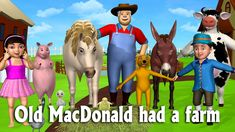 Old MacDonald Had A Farm - 3D Animation Animals Songs & Nursery Rhymes f...