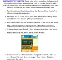 Internet Safety, Digital Storytelling, Online Security, Jr, Have Fun, Students, Concept, Teaching, Activities