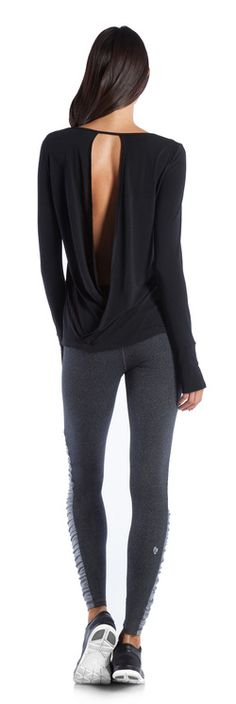 Ellie | Outfits | Workout and Activewear Collections. I love this top. Go With The Flow and Namaste Legging