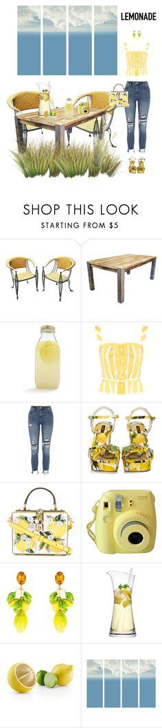"""Outfit #939 Lemonade 🍋"" by nmr135 ❤ liked on Polyvore featuring DutchCrafters, Bormioli Rocco, Thierry Colson, River Island, Dolce&Gabbana, Fujifilm, LSA International, Eva Solo, Art Addiction and StreetStyle"