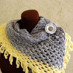Crochet Scarf / Crochet Neckwarmer by DirtComesClean on Etsy, $20.00