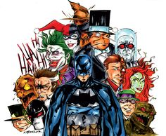 The Bat and his Villains