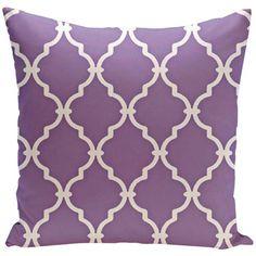 Heather Purple Trellis Decorative Pillow