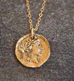 Roman Coin Necklace by Gypsy Sol Designs