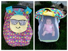 New Design Pineaapple Car Seat Canopy With Netting And Peek -A-Boo Window Keeps Out Bugs Unwanted Hands Cotton Fabric Ready To Be Shipped by lindasnd on Etsy Mesh Fabric, Cotton Fabric, Baby Carrier Cover, Pineapple Fabric, Baby Must Haves, Peek A Boos, News Design, Future Baby, Fabric Crafts