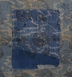 A Length of Intricately Figured Omi Jofu: Patched