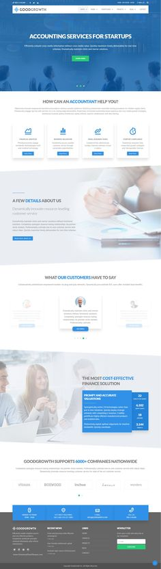 GoodGrowth is a Finance & Accounting, fully responsive HTML Bootstrap Template, suited for #business, consulting and #corporate #websites but it can be used for every type of web site with some modifications.