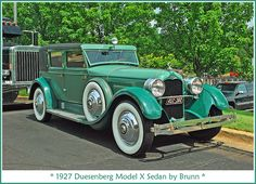 1927 Duesenberg Model X...Re-pin brought to you by #BetterInsuranceRate at #HouseofInsurance Eugene