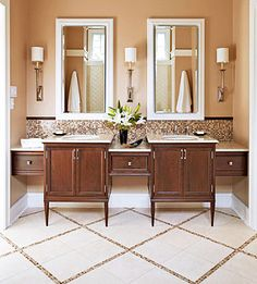 Love it!!!  It reminds me of a resort bathroom.