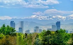Stunning views of the mountains and Denver, Colorado.