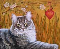 Cat portraits. Nicole Jahan.