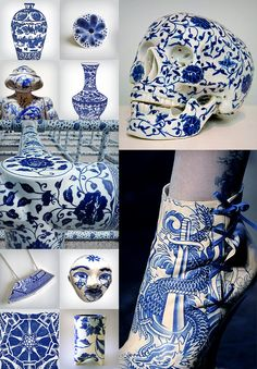 Blue White Delft Delftware Dutch Porcelain Ai Weiwei Field Jean Paul Gautier