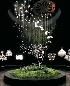 As large as satellites and as delicate as Faberge eggs, the Crystal Biosphere and Crystal Tree were the centerpieces of Preciosa - Lustry a. Crystal Tree, Interior Architecture, Interior Design, The Shining, Light Art, Design Awards, Installation Art, Lighting Design, Decoration