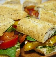 Fresh and Roasted Vegetable Sandwiches