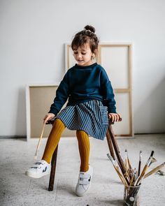 10 childrens fashion brands from Berlin-monkind Fashion Kids, Little Kid Fashion, Baby Girl Fashion, Toddler Fashion, Fashion Shoes, Veja Esplar, Outfits Niños, Inspiration Mode, Cute Little Girls