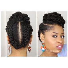 5 Gorgeous Natural Hair Styles That Are Super Easy to Do ❤ liked on Polyvore featuring beauty products and haircare