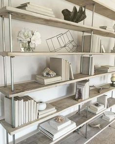 salvaged oak industrial bookshelf by raka mod rustic industrial shelving whitewashed furniture shelfie shelving unti beach decor