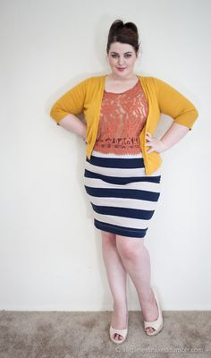 Skirt: H L, Top and Cardigan: Target, Shoes: Torrid