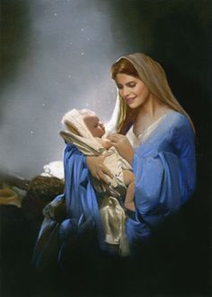 Holy mother Mary and the child Jesus. Blessed Mother Mary, Divine Mother, Blessed Virgin Mary, Religious Pictures, Jesus Pictures, Religious Art, Mother Mary Images, Images Of Mary, Jesus E Maria