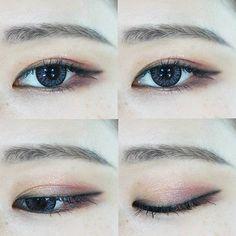 Korea Eyes Make Up #Ulzzang #dyeo_e