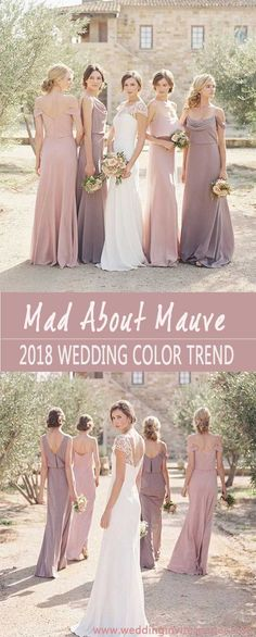 2018 STYLISH & PRETTIEST WEDDING COLOR TREND : SHADE OF MAUVE - Wedding Invites Paper mauve wedding gowns/ rustic wedding bridesmaid dresses/ shade of purple wedding dresses