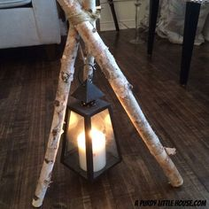 Birch Branch Tripod Lantern More