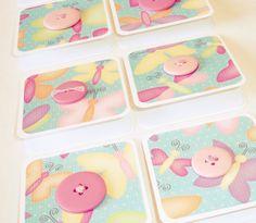 色が淡くて春らしいと思いました♪:Mini cards Mini note cards Colorful butterfly by LoveSweetCaroline, $4.50