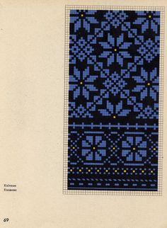 cimduraksti057 (512x700, 420Kb) Free Crochet Doily Patterns, Fair Isle Knitting Patterns, Knitting Charts, Sweater Knitting Patterns, Weaving Patterns, Knitting Stitches, Cross Stitch Patterns, Knitted Mittens Pattern, Knit Mittens