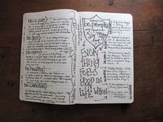 Smash book page idea. Everything feels good in my life when  #journaling