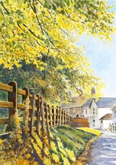 Carole Massey, landscapes - water soluble pencil