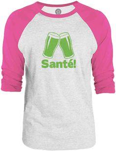 Big Texas Flemish Cheers (Green) 3/4-Sleeve Raglan Baseball T-Shirt