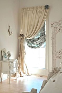 Gorgeous 90 Romantic Shabby Chic Bedroom Decor a .. - CLICK THE IMAGE for Various Kitchen Window Treatment Ideas. #windowtreatments #drapery