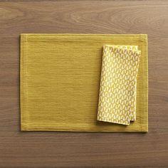 placemat mustard