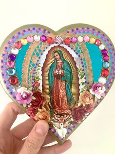 A personal favorite from my Etsy shop https://www.etsy.com/listing/531077202/rustic-vintage-our-lady-of-guadalupe