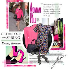 How To Wear Get The Look - Emmy Rossum Is Ready For Spring Outfit Idea 2017 - Fashion Trends Ready To Wear For Plus Size, Curvy Women Over 20, 30, 40, 50