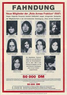 Ein Fahndungsplakat aus dem Januar 1985. Damals suchen die Ermittler nach der...RAF - Rote Armee Fraktion.