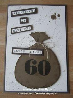 Letztens fragte mich mein Göttergatte, ob ich eine Idee für ein Geldgeschenk hätte. Er war zum 60. Geburtstag eines Kollegen eingeladen. Ei...
