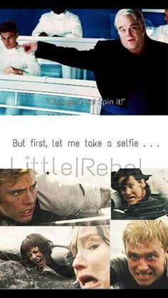 Lol haha funny pics / pictures / Hunger Games Humor / Selfie / Hashtag / Catching Fire / Peeta / Katniss / Finnick / Johanna Peeta looks scary. Hunger Games Memes, Hunger Games Fandom, The Hunger Games, Hunger Games Catching Fire, Hunger Games Trilogy, Catching Fire Funny, Suzanne Collins, Haha Funny, Hilarious