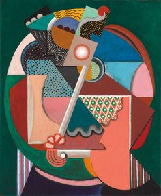 Auguste Herbin Composition, danseuse, Signed and dated 'Herbin (lower left). 28 x 23 in x 60 cm.) Estimate: This work is offered in the Art Moderne sale at Christie's Paris on October Illustrations, Illustration Art, Auguste Herbin, Synthetic Cubism, Catalogue Raisonne, Francisco Goya, Cubism Art, Abstract Geometric Art, Georges Braque