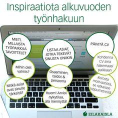 Inspiraatiota alkuvuoden työnhakuun! #työnhaku #itsensäjohtaminen