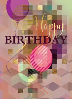 Happy Birthday Greetings Friends, Happy Birthday Art, 50th Birthday Cards, Happy Birthday Pictures, Birthday Wishes Quotes, Happy Birthday Messages, Happy B Day, Inspiration, Poster
