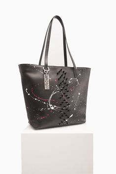 Oh darling! New luxury is here. The Missile bag from the Starborn collection is nothing but amazing! This studded tote bags is made from genuine leather and is hand painted. A dream bag for all who love bold styles. Not your basic bag! www.studmuphin.com #totebag #leatherbag #leathertote #handbag #leatherhandbag #handmadebag #artisan #designerbag #newdesigner #boldbag #spikebag #studdedbag #paintedbag #amazing #limitededition #fashion #fashionbag #style #luxurybag #luxury Luxury Bag Brands, Luxury Bags, Bold Fashion, Fashion Bags, Painted Bags, Hand Painted, Leather Handbags, Leather Bag, Studded Bag