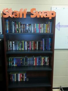 Staff book swap: take a book when you want, leave a book when you can! PHS media center 2013