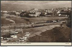 Looking Towards Towan Beach & Island, Newquay, Cornwall, c.1950s - Jarrold Postcard
