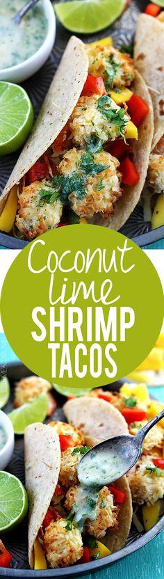 Coconut Lime Shrimp Tacos | Creme de la Crumb