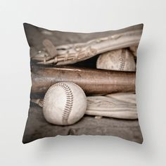 Pillow Cover, Baseball and Bat Sports Fan Boys Room Decor Bedroom Decor Colorful Style Living Room Decor on Etsy, $36.00
