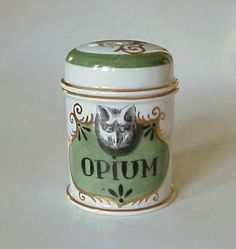 Early 1800s Medical Old Medicine Porcelain Opium Jar Pharmacy Apothecary. I absolutely love Antique apothecary items. Rare and beautiful
